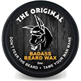 Badass Beard Care Beard Wax For Men - Scent - Softens Beard Hair, Leaves Your Beard Looking And Feeling More Dense 2 oz…