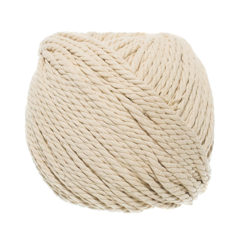 Natural Cotton for Macramé, Wall Hanging, Plant Hanger, Craft Making, Knitting Cord Rope with Natural Color 3MM, 4MM and 5MM in 50M, 80M and 100M Lengths