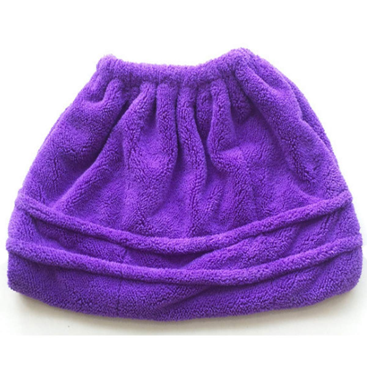 Reusable Washable Flannel Mop Head Replacement Cover - Multifunctional Lazy Mop Cloth - Mop Sweeping Artifact (Purple)