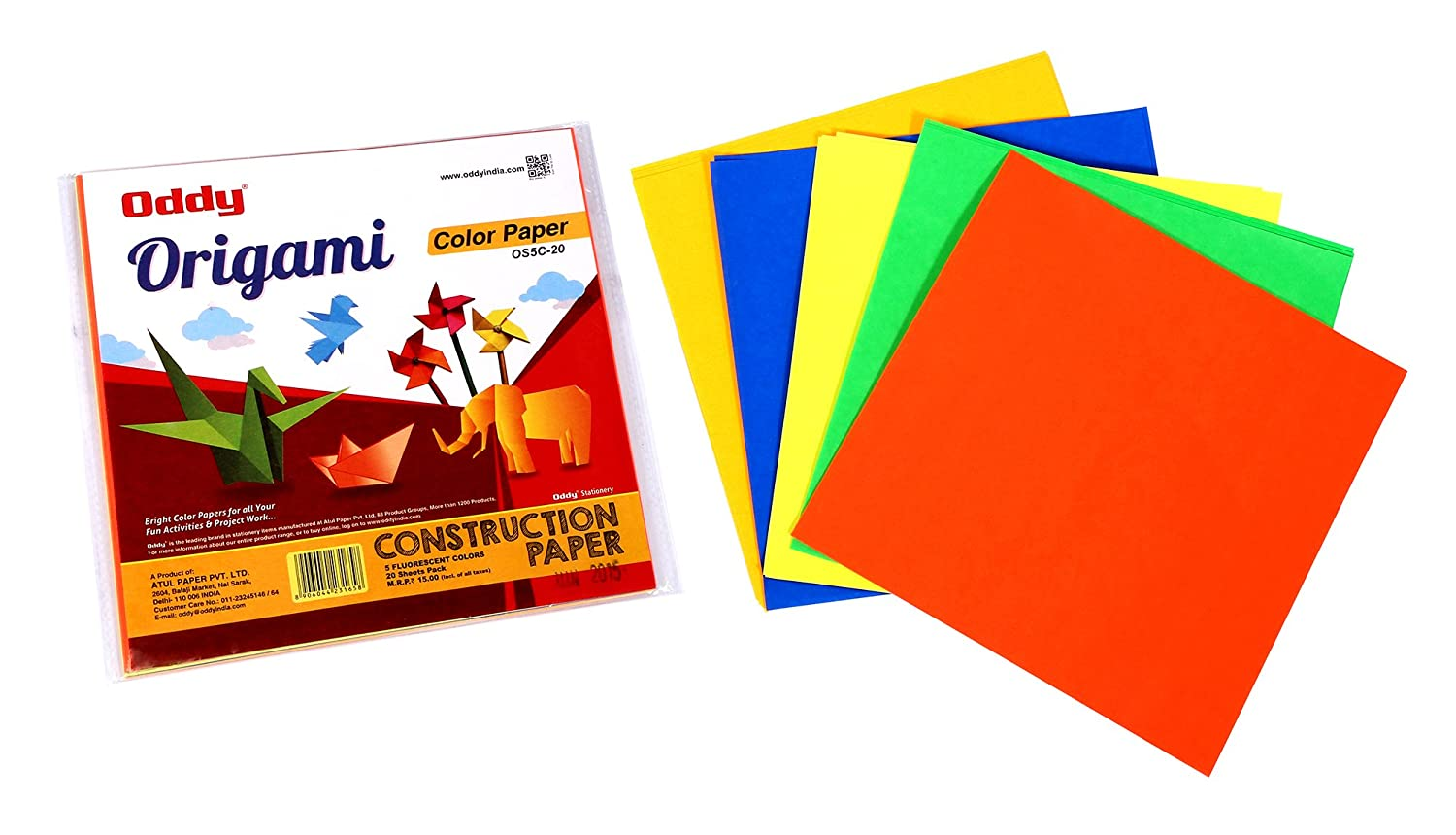 Oddy Origami Sheets, Single Side Fluorescent, 6\