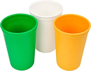 product image for Re-Play 3pk - 9oz. Drinking Cups | Made in USA from Eco Friendly Heavyweight Recycled Milk Jugs - Virtually Indestructible | for All Ages | Kelly Green, White, Sunny Yellow | St. Patrick's Day