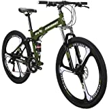 Mountain Bike TSM G4 Bicycle 21 Speed 26 Inches Wheels Dual Suspension Folding Bike