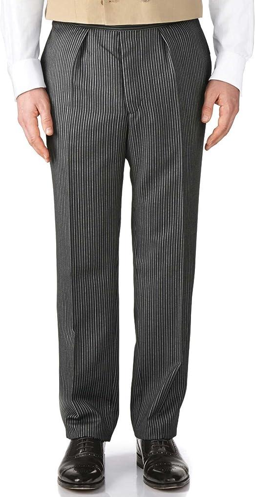 Charles Tyrwhitt Pantalones de chaqué Negros de Corte clásico a ...