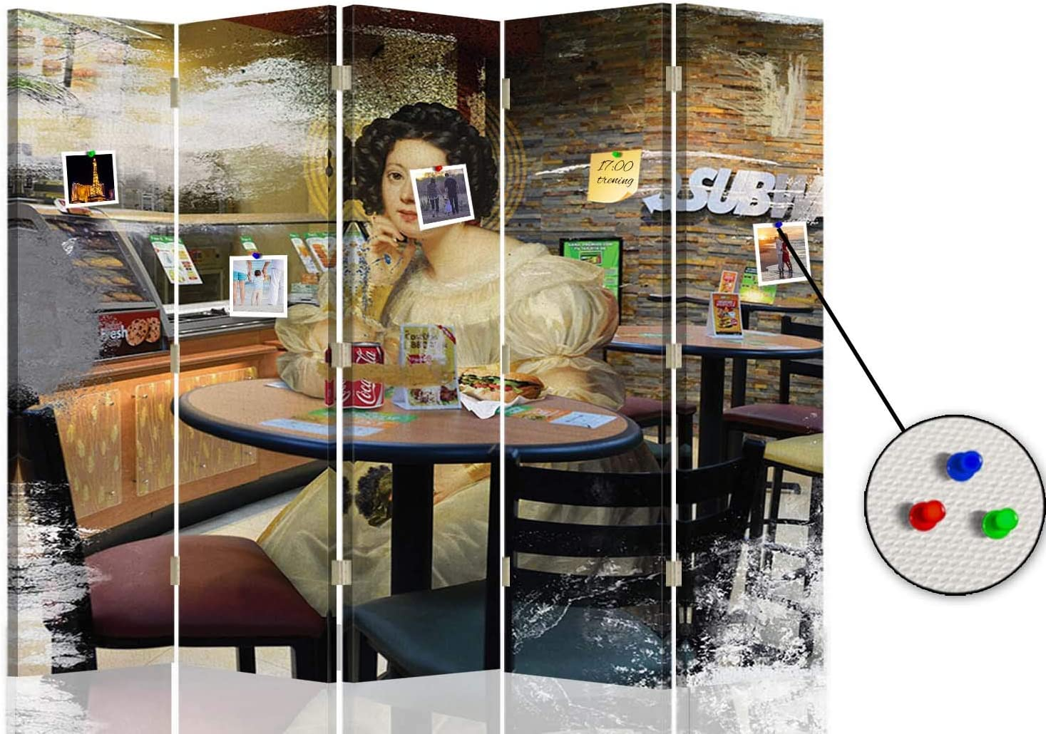 carowall CAROWALL.COM Foto Biombo Parodia del Arte 5 Paneles ...