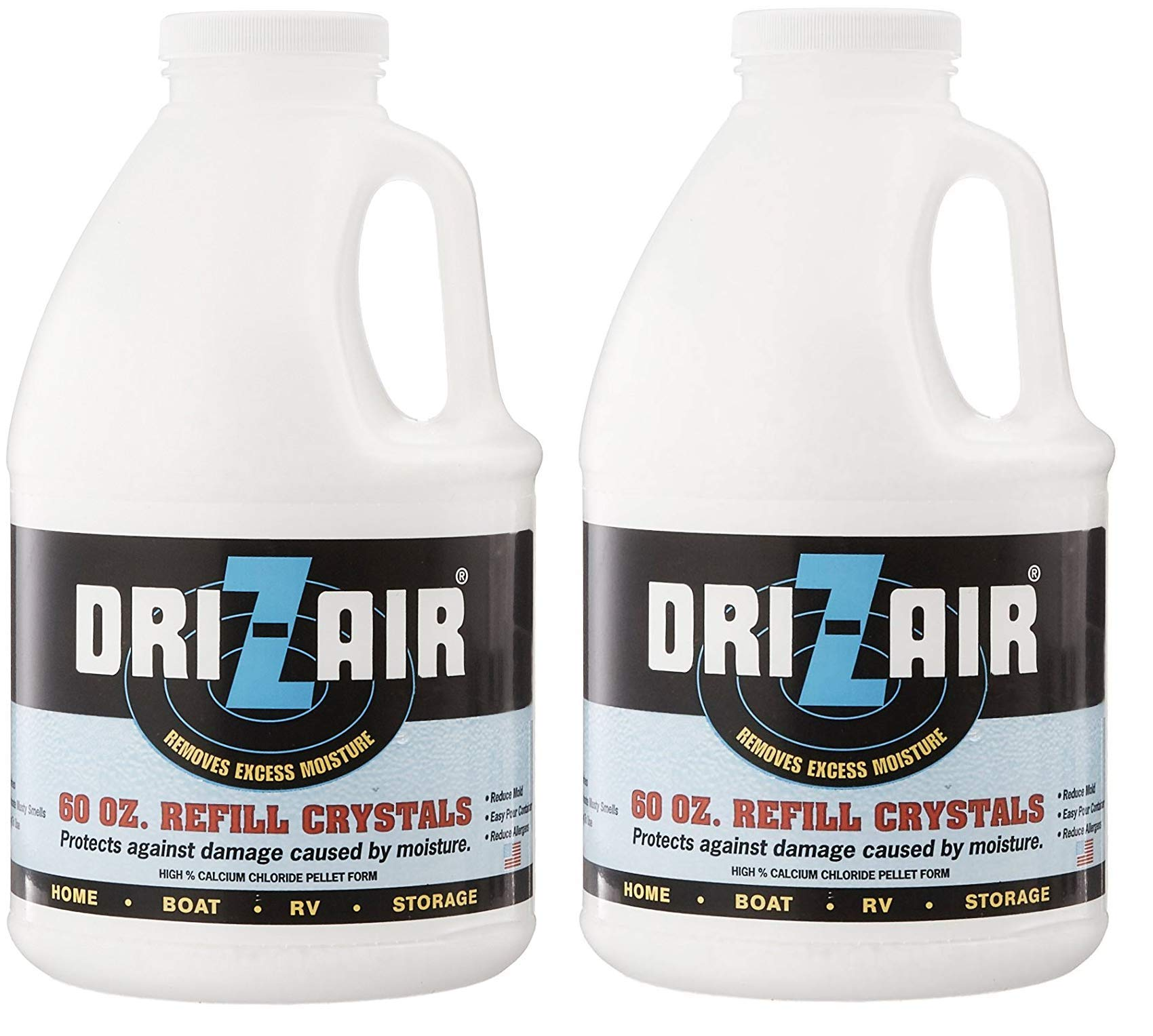 Dri-Z-Air DZA-60 60-Ounce Refill Crystals (Тwo Рack)