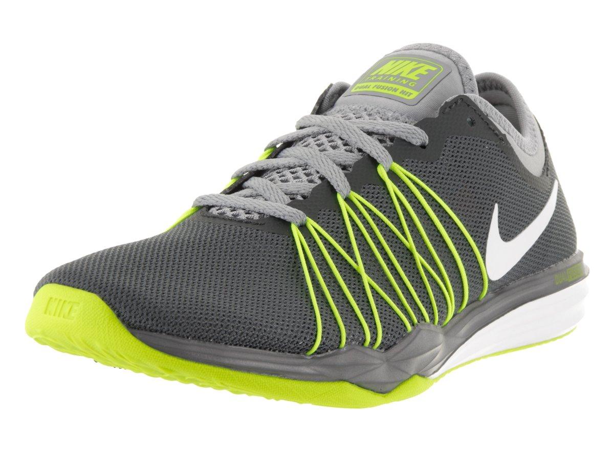 Nike Damen W Dual Fusion Tr Hit PRNT Trainingsschuh Grau (Dark Grey/White-Steal TH-Volt)