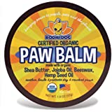 Organic Paw Balm for Dogs & Cats | All Natural Soothing & Healing for Dry Cracking Rough Pet Skin | Protect & Restore Cracked and Chapped Dog Paws & Pads | Better Than Paw Wax