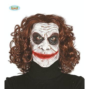 Máscara de Payaso Asesino | Antifaz Joker | Mascarilla Arlequín Malvado | Careta Payaso Psicópata