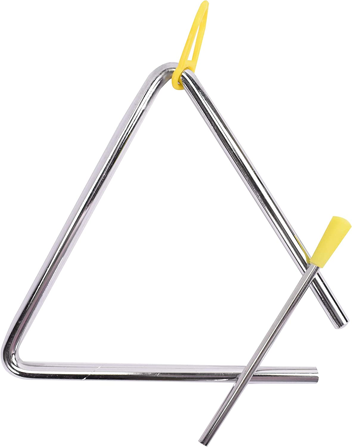 5inch Musical Triangle Steel School Children Percussion Instrument with Beater