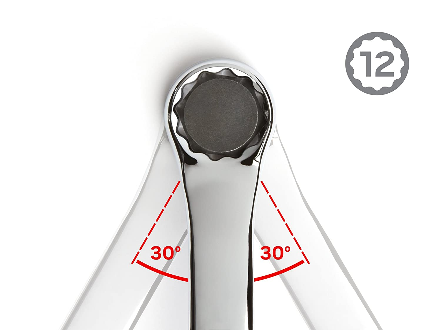 TEKTON 1//2-Inch x 9//16-Inch 45-Degree Offset Box End Wrench WBE23313