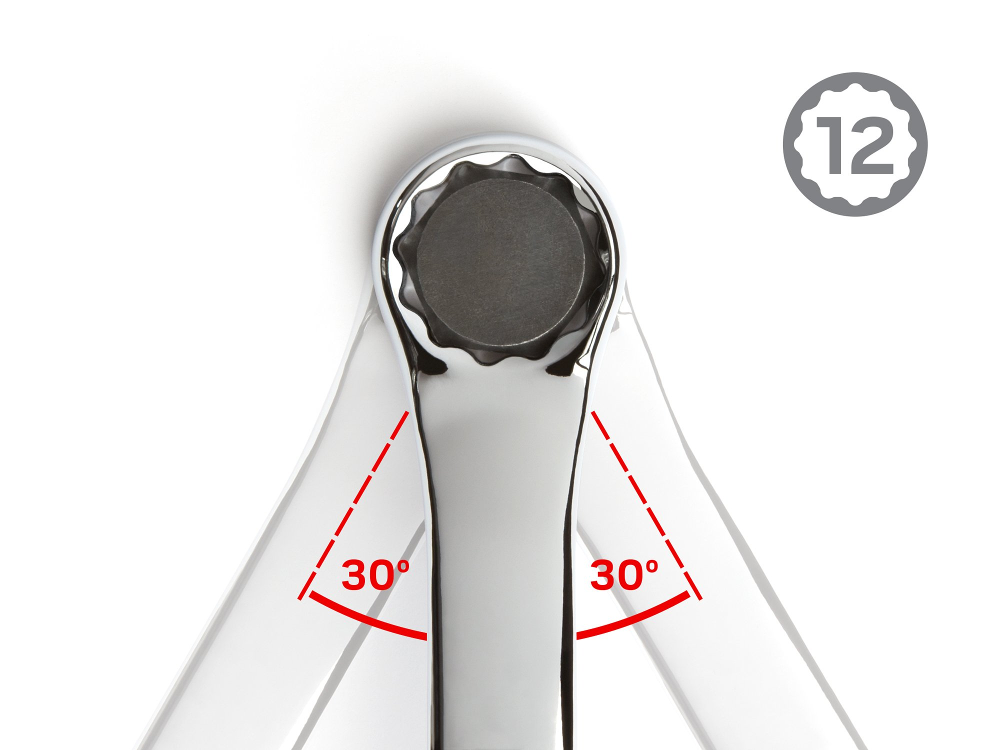TEKTON 45-Degree Offset Box End Wrench Set with Roll-up Storage Pouch, Metric, 6 mm- 32 mm, 11-Piece | WBE24511 by TEKTON (Image #5)