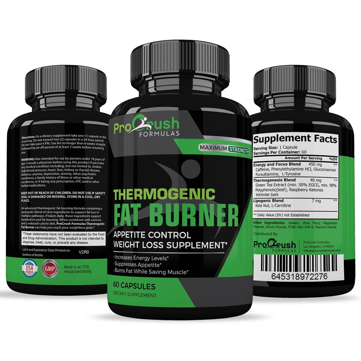Thermogenic Fat Burner & Appetite Control Weight Loss Supplement- Superior Formula That Burns Fat & Increases Metabolism. Ultimate Appetite Suppressant by ProCrush Formulas by ProCrush Formulas