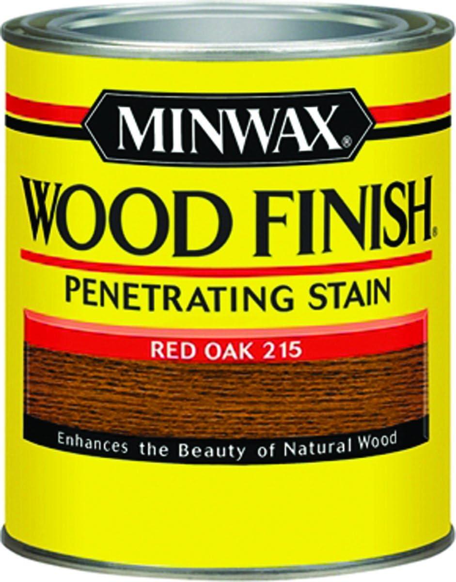 Minwax 22150 1/2 pinta acabado de madera de roble rojo tinte interior para madera