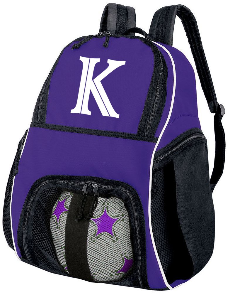 Broad Bay Personalized Soccer Backpack - Custom Volleyball Bag Purple