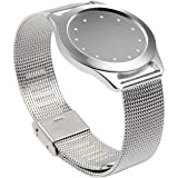 Misfit Shine Band Pinhen Misfit Wearables Band Wristband Aluminum Mesh Watch Stainless Steel Milanese Bracelet Strap For Misfit Shine (Shine 1 Mesh Silver)