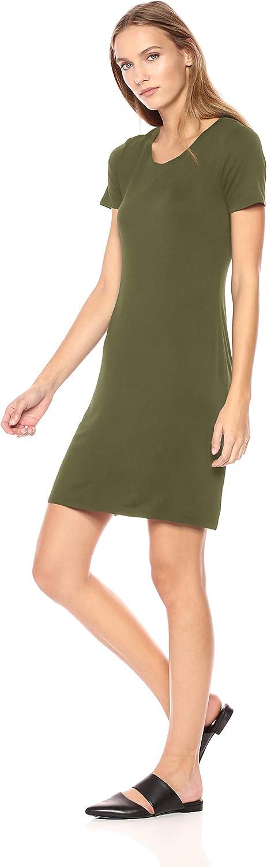 Daily Ritual Womens Jersey Short-Sleeve Scoop Neck T-Shirt Dress