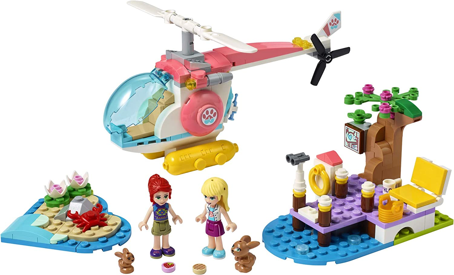 249 Pieces New 2021 LEGO Friends Vet Clinic Rescue Helicopter 41692 Building Kit; Makes Great Birthday for Kids