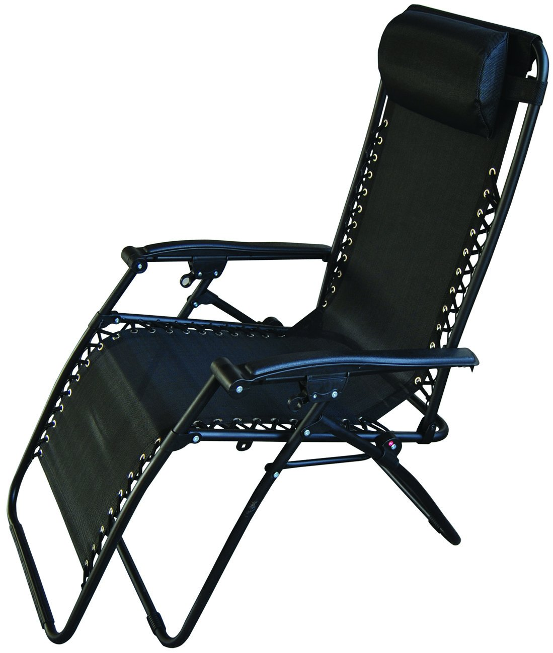Redwood Leisure Textilene Reclining Chair   Black: Amazon.co.uk: Garden U0026  Outdoors