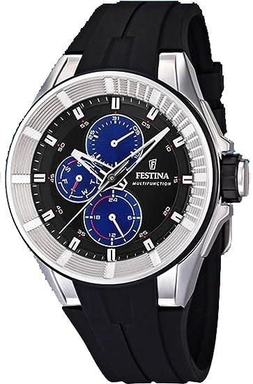 Reloj Festina para hombre con correa negra y pantalla en azul F20342/2