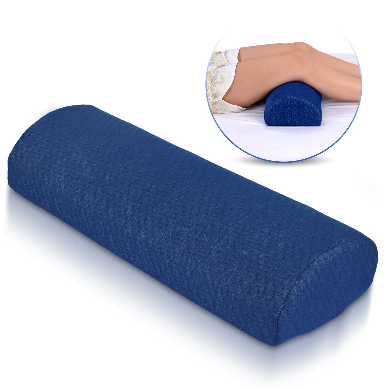 Ebung Half Moon Pillow – Ergonomic Knee Pillow for Post-Surgery, Sciatica, Varicose Veins, Pre/Post Pregnancy – Comfortable Sleeping Leg Pillow for Men & Women – Improved Blood Circulation