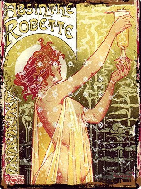 8x10in ART DECO ABSINTHE ROBETTE CLASSIC FRENCH METAL SIGN RETRO ...