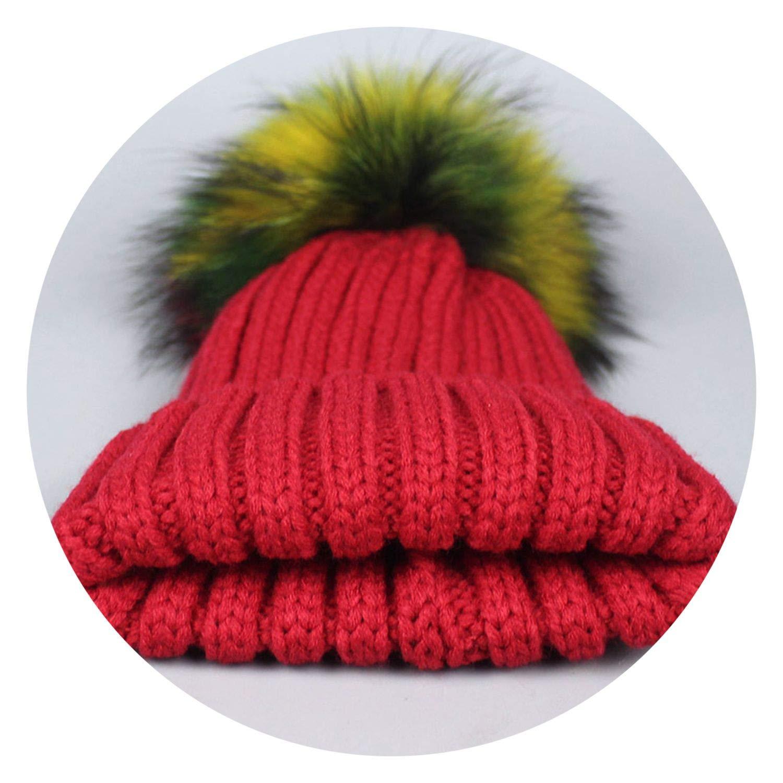 Hat Casual Crful Pom Pom Beanies Girls Pompon Fe Winter Warm Knit Skullies,Navy,