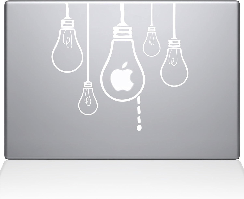 "The Decal Guru Idea Light Bulbs MacBook Decal Vinyl Sticker - 15"" MacBook Pro (2015 & Older) - White (0190-MAC-15P-W)"