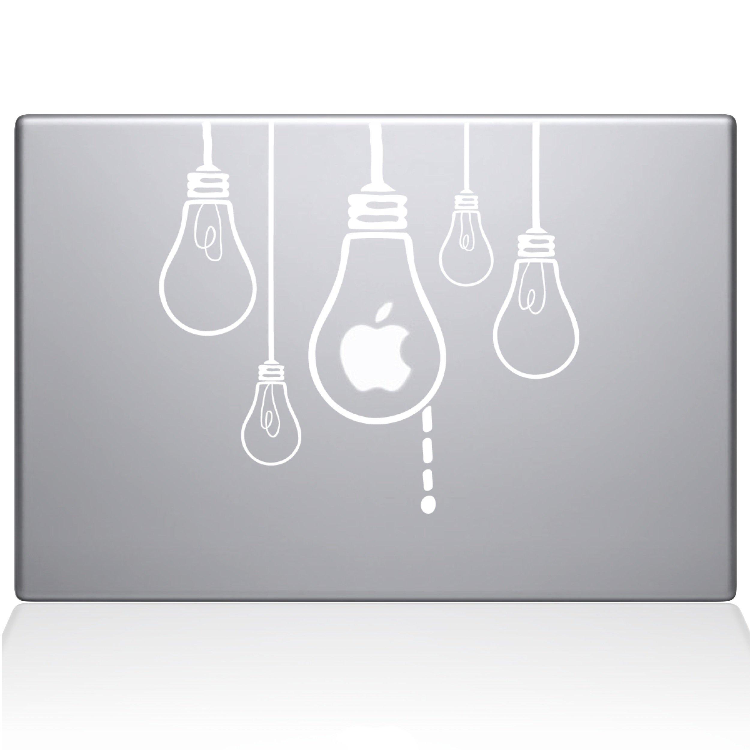 The Decal Guru 0190-MAC-13A-W Idea Light Bulbs Vinyl Sticker, 13'' Macbook Air, White