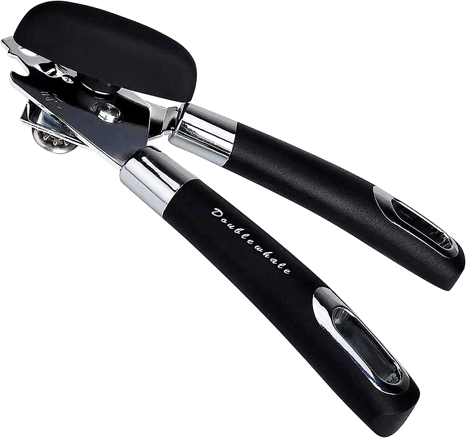 Grips Manual Deluxe Can Opener Stainless steel With thick rubberized handle