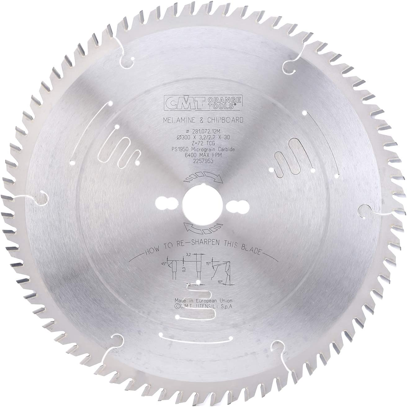 CMT Orange Tools 297.096.12M Scie circulaire/Z 96/TCG 6/crans Silencieuse 300/x 3,2/x 30/mm