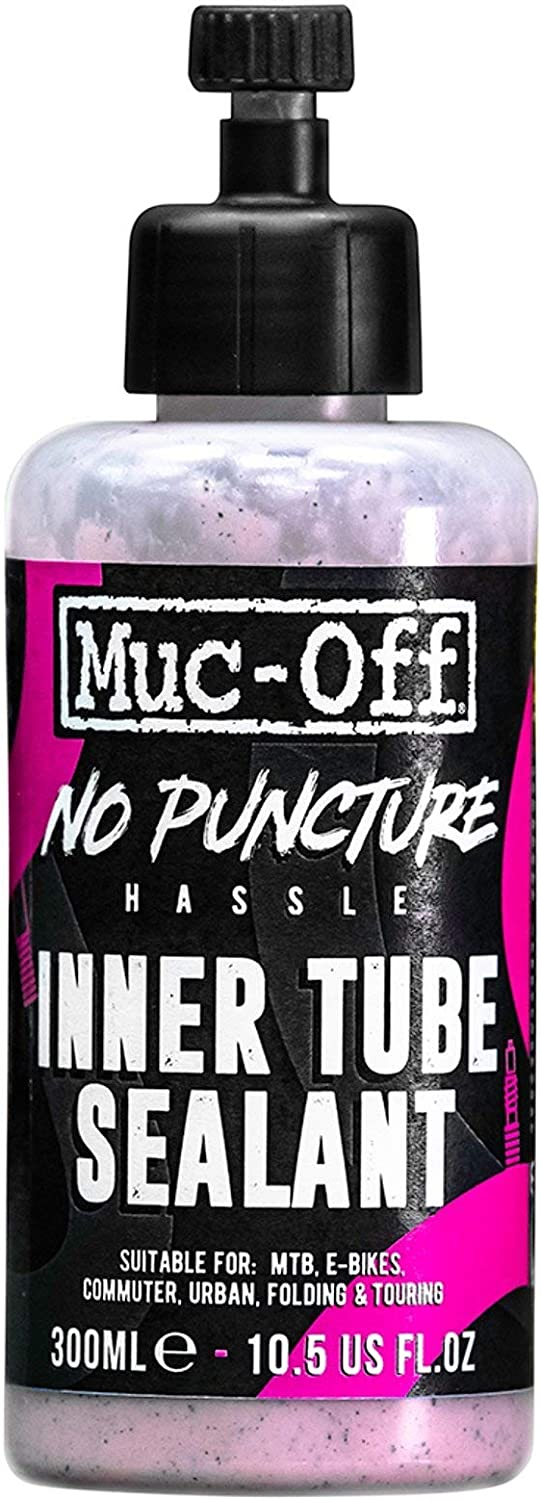Muc Off No Puncture Hassle Inner Tube Sealant, 300 Millilitres - Advanced Bicycle Tyre Sealant for Repairing Inner Tube Punctures of Up to 4mm