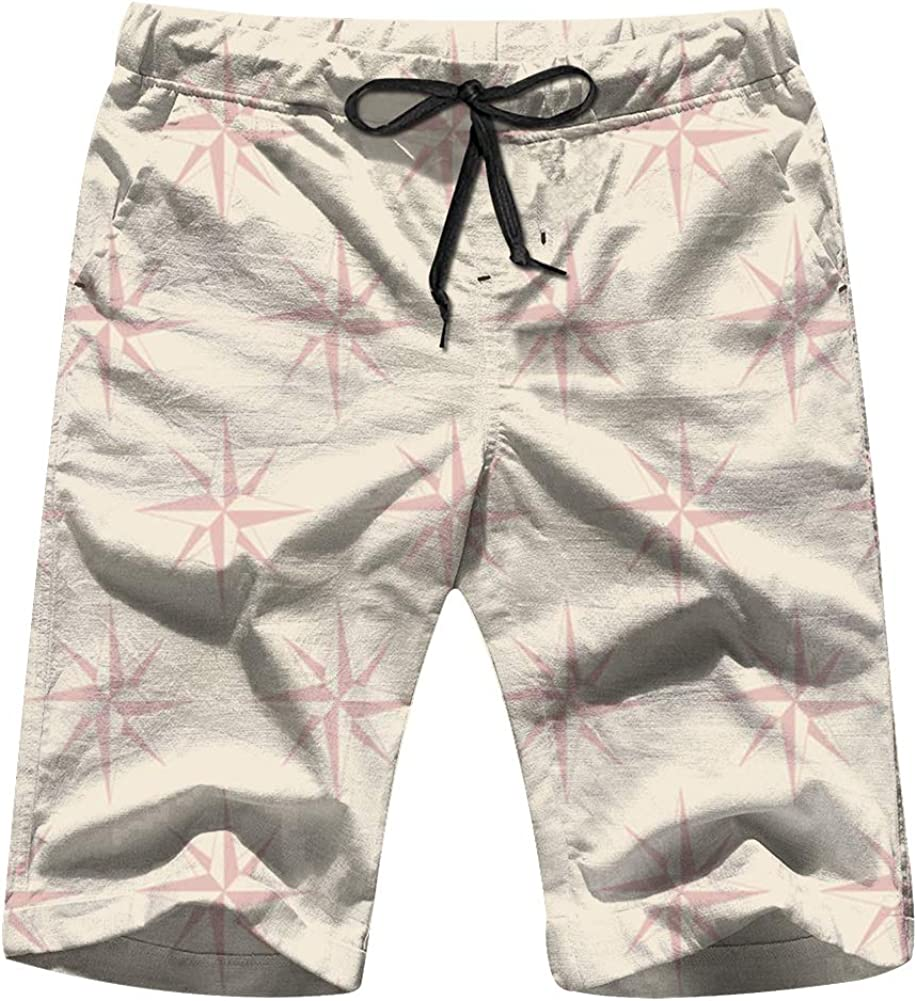 NGuns Mens Summer Swim Trunks Roses Winds Your Design Adventure Quick Dry Funny Beach Board Shorts with Mesh Lining