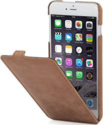 "StilGut UltraSlim Case, custodia per Apple iPhone 6s Plus (5.5""), in pelle, cognac vintage"