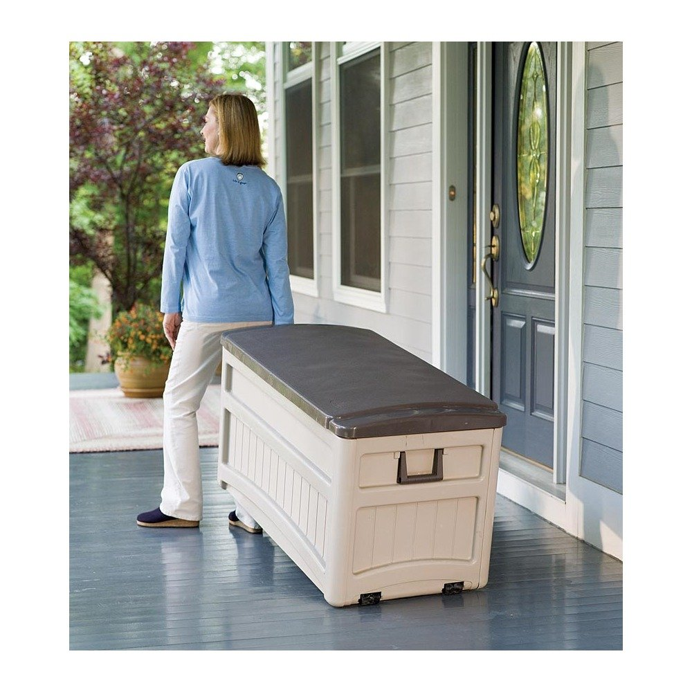 Amazon.com : Large Outdoor Storage Box : Outdoor Storage Benches : Garden U0026  Outdoor