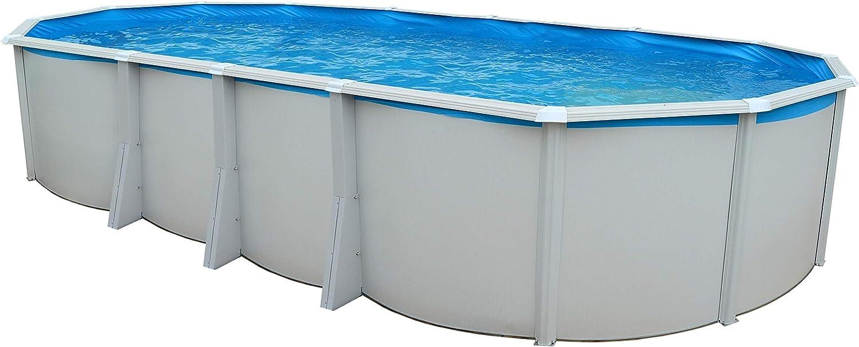 TOI - piscina IBIZA OVALADA 915x457x132 cm Filtro 6 m³/h: Amazon.es: Juguetes y juegos