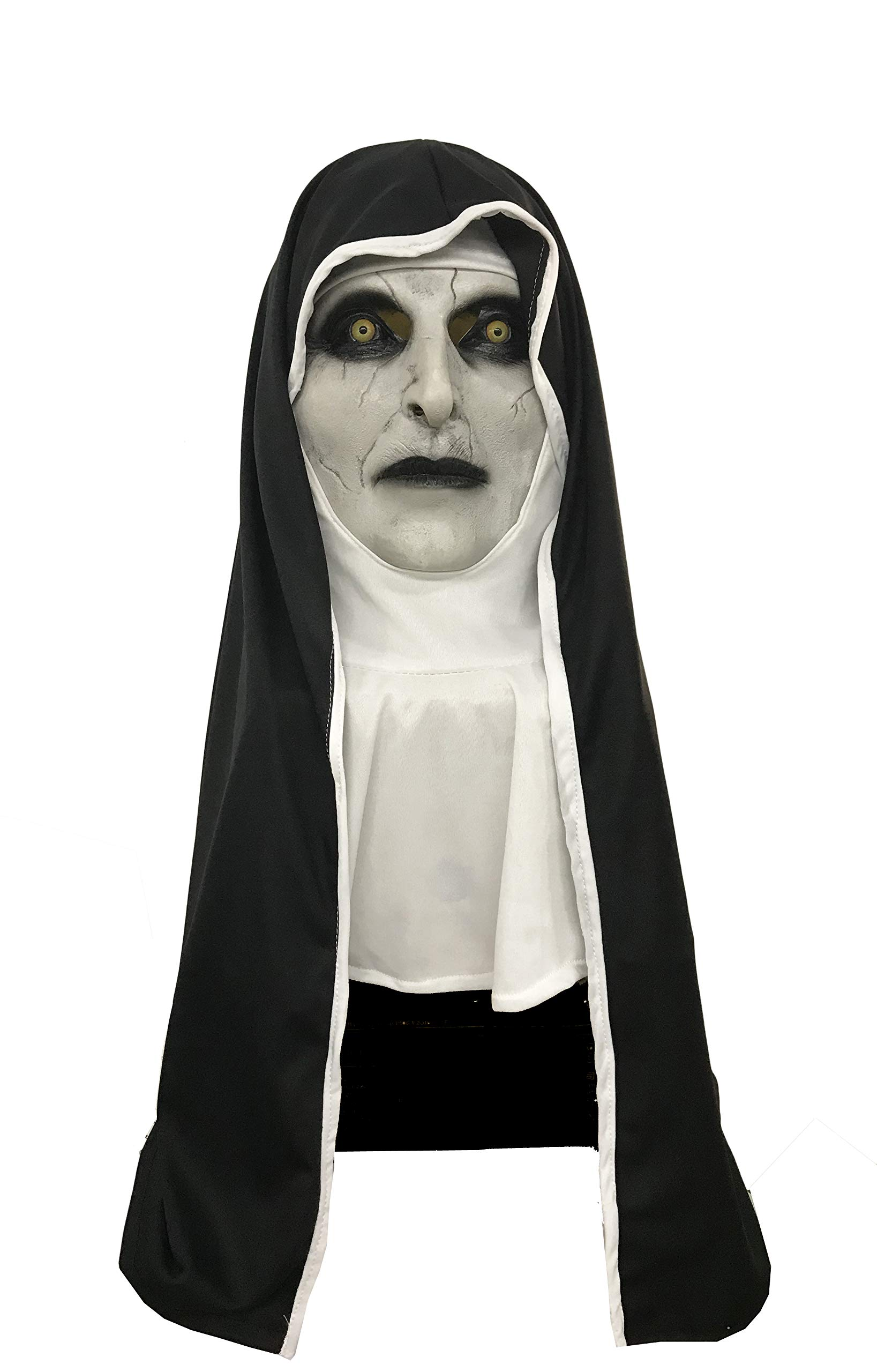 The Nun Valak Mask Latex with Hood Full Head Halloween Cosplay Costume Accessory Prop C