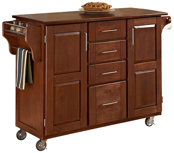 Home Styles Create-a-Cart, Warm Oak Finish with Cherry Top