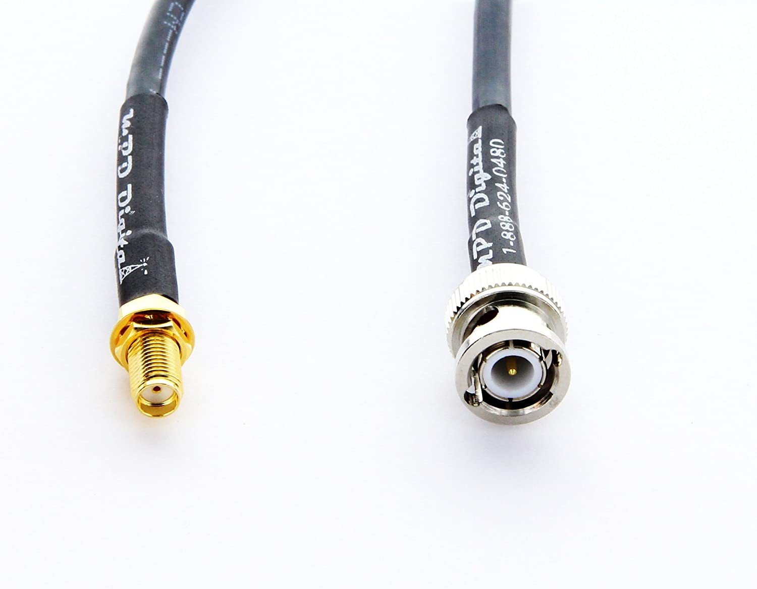 MPD Digital rg-58-sma-female-bnc-male-3ft RF coaxial cable SMA female to BNC male USA Made MILSPEC RG58 cable 3 feet