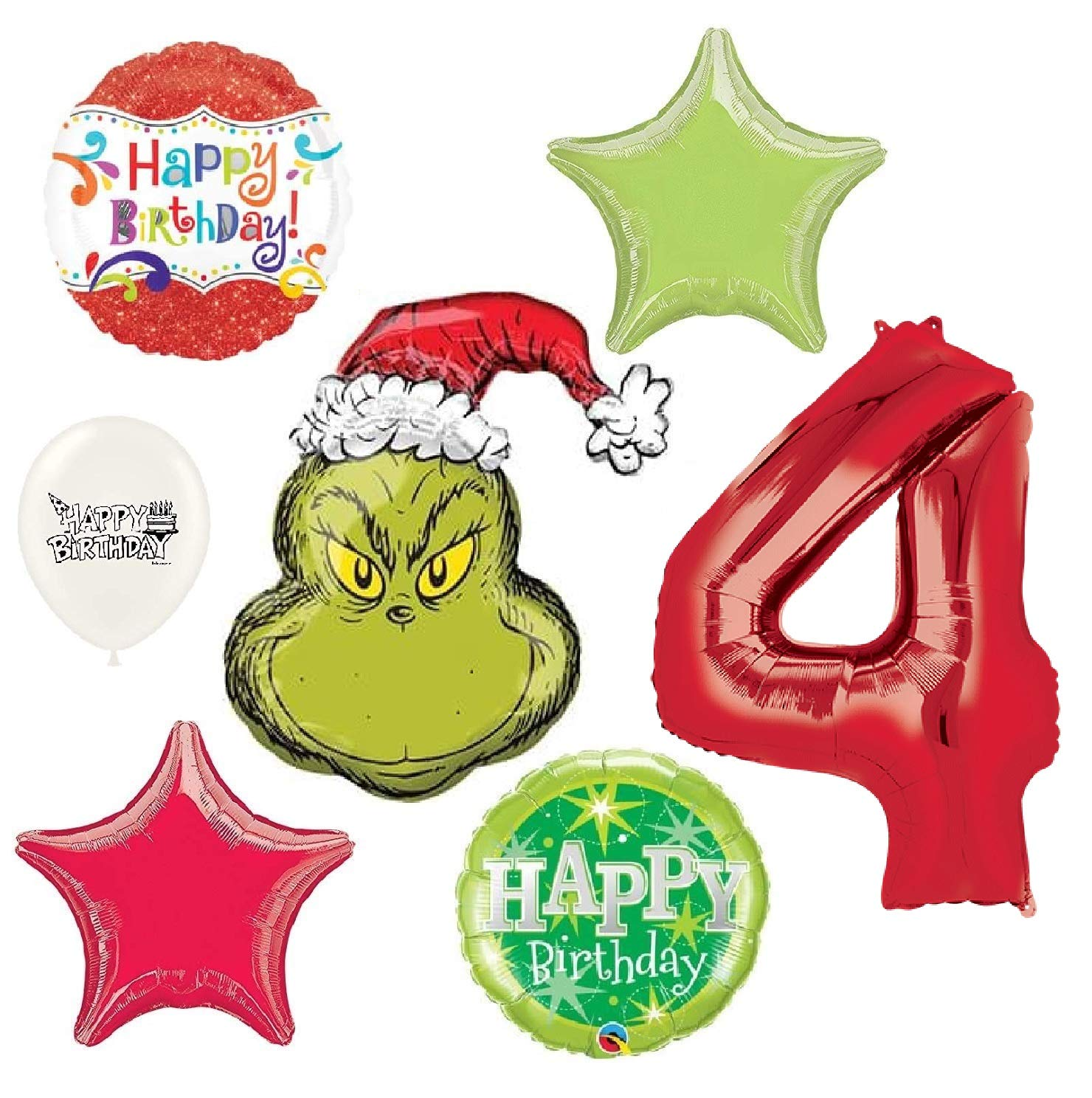 Amazon Com The Grinch Wishes You A Happy 4th Birthday Party