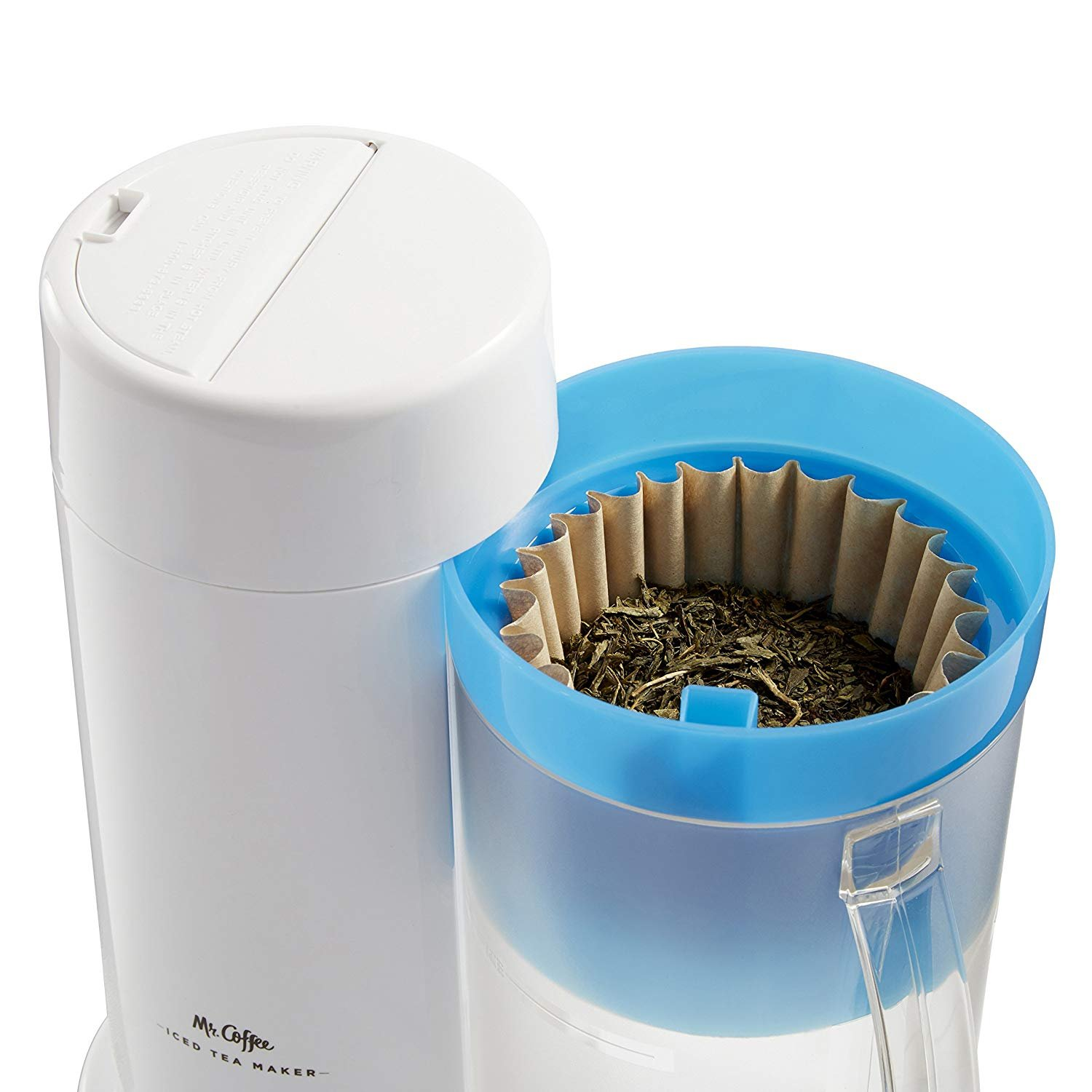 TM1 2-Quart Iced Tea Maker for Loose or Bagged Tea, Blue by Mr. Coffee. (Image #3)