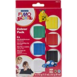 Staedtler 8032 01 - Fimo kids Materialpackung Colour Pack - basic, 6 x 42 g
