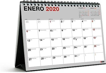 Miquelrius 28049 - Calendario de Sobremesa A5 para escribir Gris ...