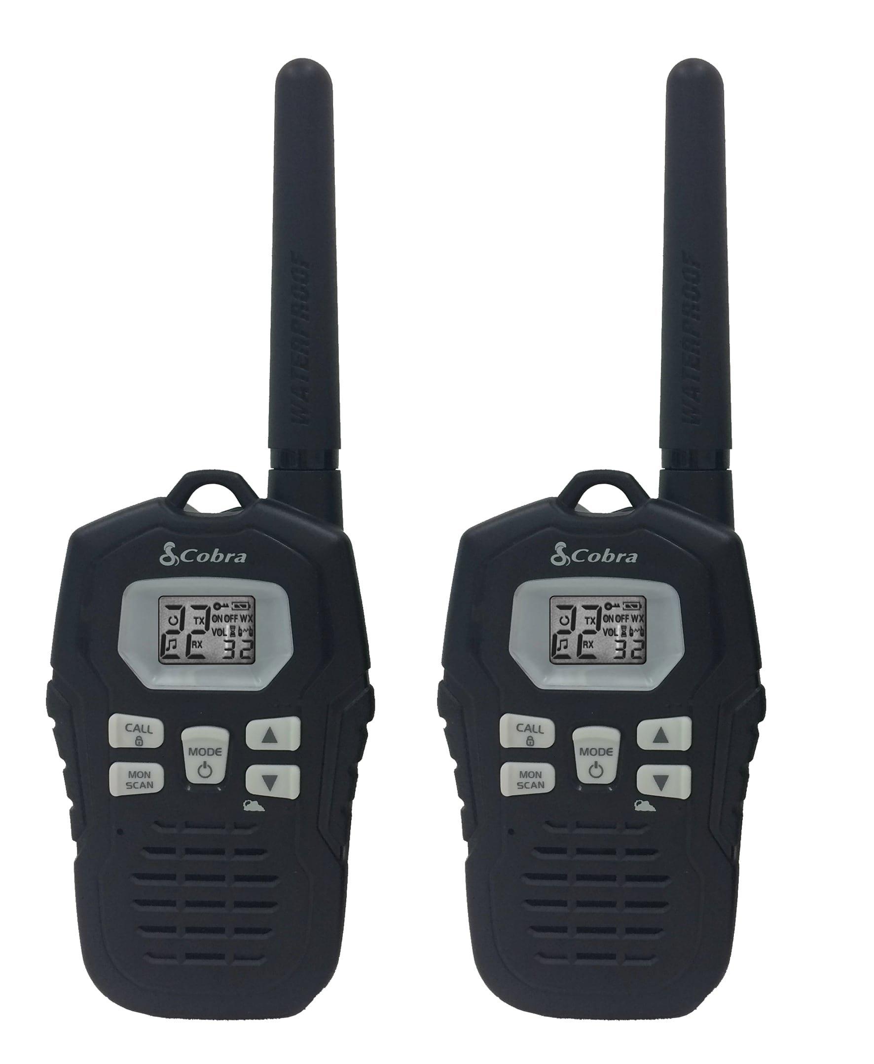 Cobra CXY800 Walkie Talkies 35-Mile Two-Way Radios, Rechargeable (Pair)