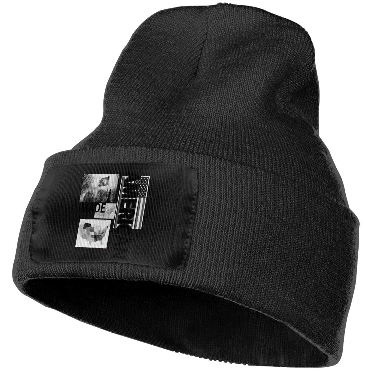 SLADDD1 American All States Map with Made Warm Winter Hat Knit Beanie Skull Cap Cuff Beanie Hat Winter Hats for Men /& Women