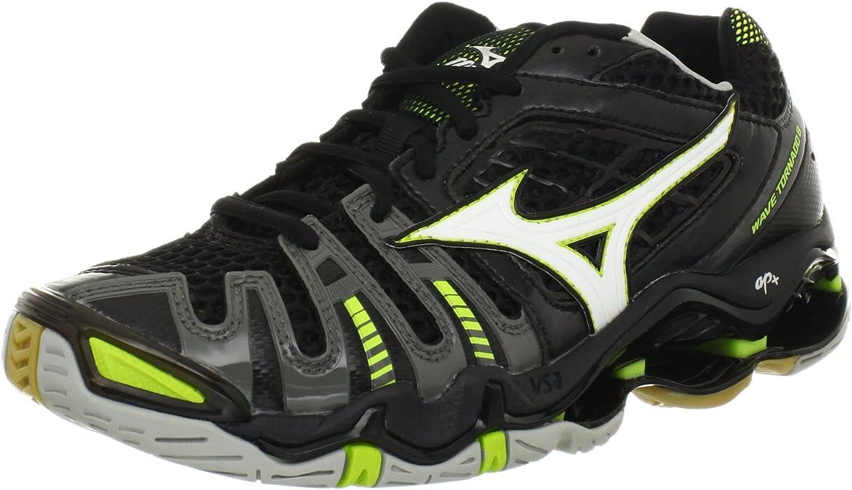 1b2391a99866 Mizuno Women's Wave Tornado 8 Volleyball Shoe,Black/White,7 M US ...