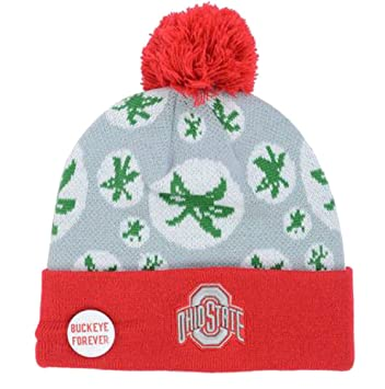 new products f245b 9852f ... buy ohio state buckeyes knit beanie w pom all over buckeye logos cap hat  team 01b25