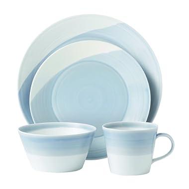 Royal Doulton 1815TW25069  Dinnerware Set, Blue, 4-Piece
