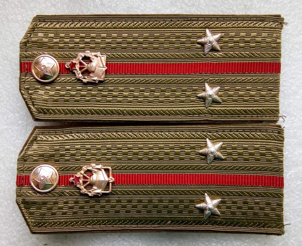 Shoulder straps engineering troops lieutenant For shirt USSR Soviet Union Russian Armed Forces Military Uniform Cold War Era