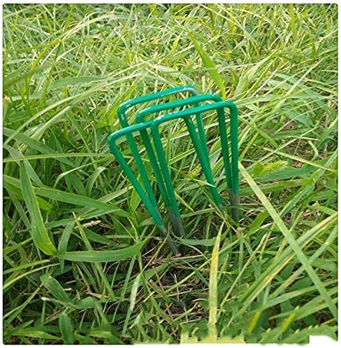 FCS Garden 100 Grapas de sujeción Acero en Forma de U, Grapas para ...
