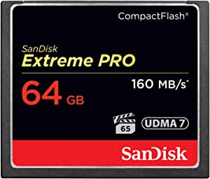 SanDisk Extreme PRO 64GB Compact Flash Memory Card UDMA 7 Speed Up to 160MB/s- SDCFXPS-064G-X46 (Label May Change),Black